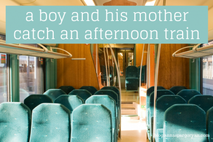 A boy and his mother catch an afternoon