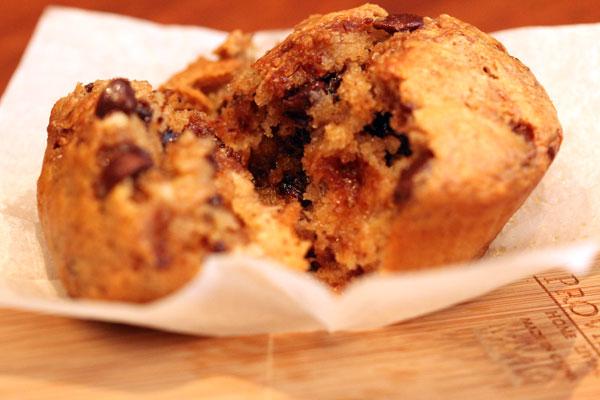 Chocolate and caramelised banana muffin recipe